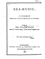 Cover of: Sea-music. | Elizabeth A. Sharp