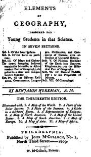 Cover of: Elements of geography, designed for young students in that science | Benjamin Workman