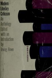 Cover of: Modern literary criticism | Irving Howe