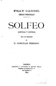 Cover of: Solfeo | Emilio Bobadilla