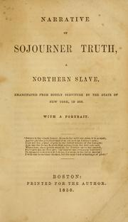 Cover of: Narrative of Sojourner Truth | Olive Gilbert