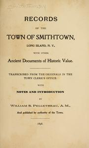 Cover of: Records of the town of Smithtown, Long Island, N.Y by Smithtown (N.Y. : Town)