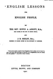 English lessons for English people by Edwin Abbott Abbott