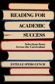 Cover of: Reading for academic success | Estelle Spero Lynch
