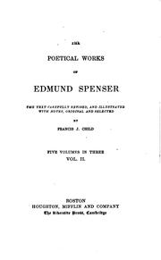 Cover of: The poetical works of Edmund Spenser by Edmund Spenser
