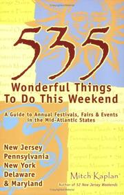 Cover of: 535 Wonderful Things You Can Do This Weekend