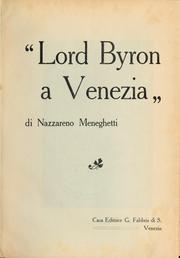 """""""Lord Byron a Venezia"""""""
