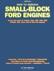 Cover of: How to Rebuild Small-Block Ford Engines
