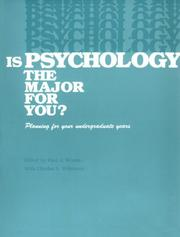 Cover of: Is psychology the major for you? |