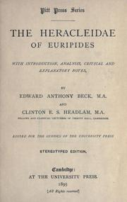 Cover of: Heracleidae of Euripides | Euripides