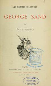 Cover of: Georges Sand | Emile Moselly