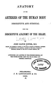 Cover of: Anatomy of the arteries of the human body by John Hatch Power