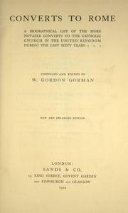 Cover of: Converts to Rome | Gorman, William James Gordon