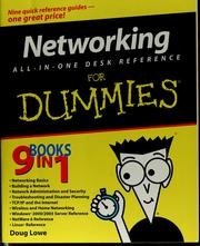 Cover of: Networking all-in-one desk reference for dummies | Doug Lowe