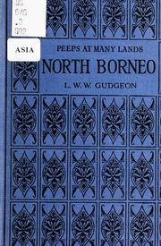 Cover of: British North Borneo | L. W. W. Gudgeon