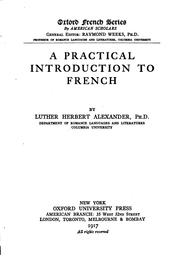 A practical introduction to French by Luther Herbert Alexander