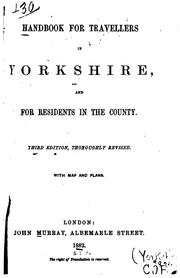 Cover of: Handbook for travellers in Yorkshire | John Murray (Firm)