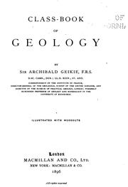 Cover of: Class-book of Geology | Archibald Geikie