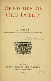Cover of: Sketches of old Dublin | Ada Peter