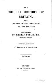 Cover of: The church history of Britain | Thomas Fuller