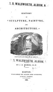 Cover of: History of Sculpture, Painting, and Architecture by John Smythe Memes