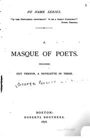 Cover of: A masque of poets by George Parsons Lathrop