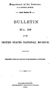 Bulletin by United States National Museum.
