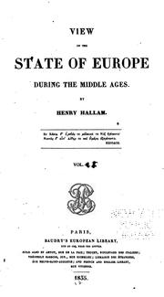 Cover of: View of the State of Europe During the Middle Ages by Henry Hallam