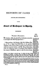 Cover of: Reports of Cases Argued and Determined in the Court of Exchequer in Equity: From Trinity Term ...