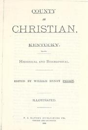 County of Christian, Kentucky by William Henry Perrin