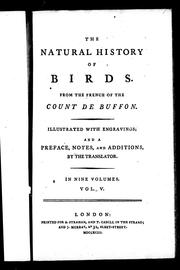 Cover of: The natural history of birds | Georges-Louis Leclerc, comte de Buffon