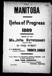 Cover of: Manitoba |