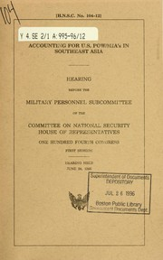 Cover of: Accounting for U.S. POW/MIA