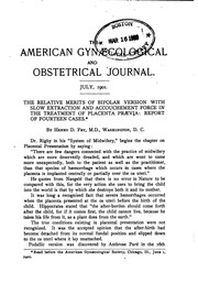 The American Gynaecological and Obstetrical Journal by