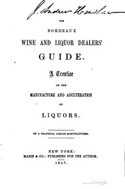 Cover of: The Bordeaux wine and liquor dealers