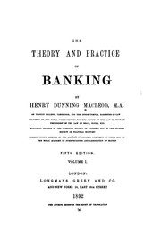 Cover of: The Theory and Practice of Banking by