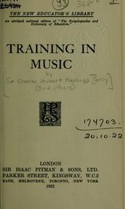 Training in music