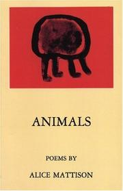 Cover of: Animals: Poems