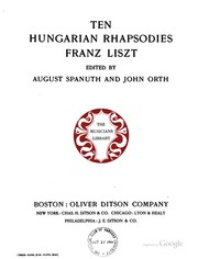 Cover of: Ten Hungarian rhapsodies | Franz Liszt