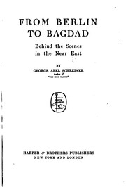 Cover of: From Berlin to Bagdad | George Abel Schreiner
