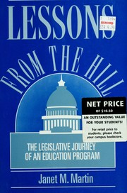 Cover of: Lessons from the Hill | Janet M. Martin