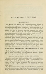 Cover of: Care of food in the home ... | Mary Hinman Abel