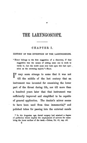 Cover of: The Use of the laryngoscope in diseases of the throat by Sir Morell Mackenzie