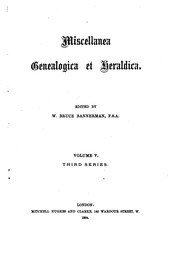 Cover of: Miscellanea Genealogica Et Heraldica by Joseph Jackson Howard