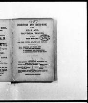 Cover of: Directory and hand-book of the meat and provision trades and their allied industries for the United States and Canada | National Provisioner Publishing Co