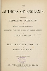 The authors of England by Henry Fothergill Chorley