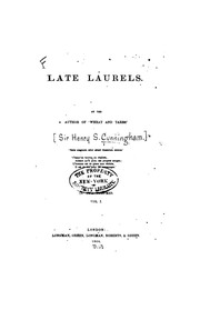 Cover of: Late Laurels by Henry Stewart Cunningham