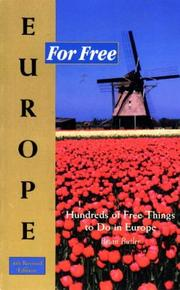 Europe for free by Butler, Brian