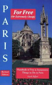 Cover of: Paris for free (or extremely cheap) | Mark Beffart
