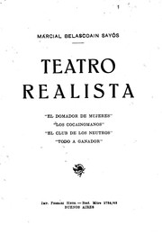 Cover of: Teatro realista | Marcial Belascoain Sayós